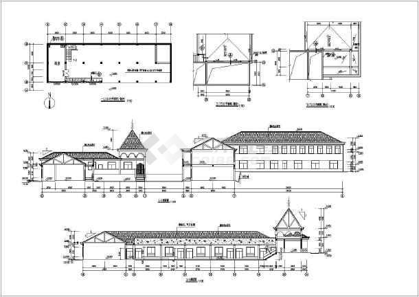 北方某地区幼儿园建筑设计CAD施工全套图-图1