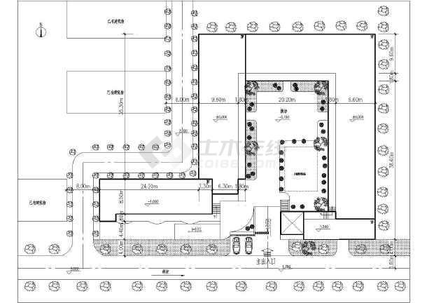 北方某地区幼儿园建筑设计CAD施工全套图-图3