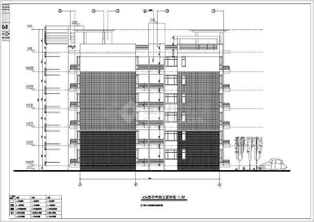 上海某地区多层高档住宅建筑设计CAD施工图-图1