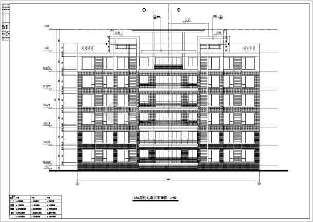 上海某地区多层高档住宅建筑设计CAD施工图-图2