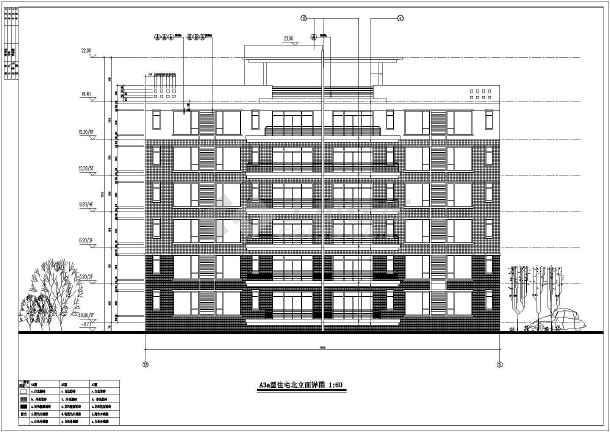 上海某地区多层高档住宅建筑设计CAD施工图-图3