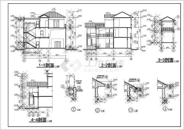 江西某地区山庄别墅建筑设计CAD平面布置图-图1