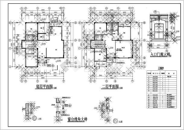 江西某地区山庄别墅建筑设计CAD平面布置图-图2