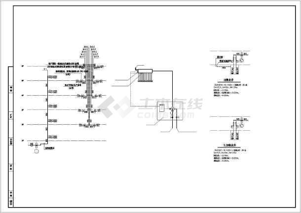 小区五层住宅楼给排水及消防和水泵房施工图-图2