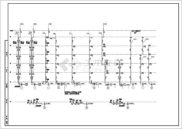 小区五层住宅楼给排水及消防和水泵房施工图-图3