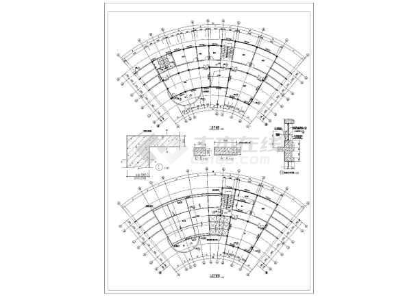 上海某地小区会所建筑设计CAD施工图-图1