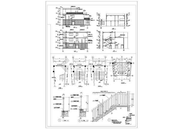 上海某地小区会所建筑设计CAD施工图-图2