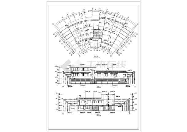 上海某地小区会所建筑设计CAD施工图-图3