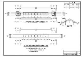 大经典门楼仿古钢结构图纸cad设计图纸设计跨度cad下载电气图片