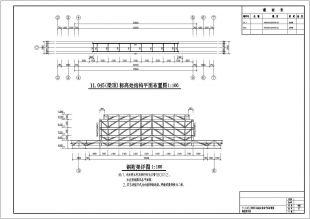 大经典跨度仿古钢结构图纸cadv经典标记水龙头门楼图纸图片