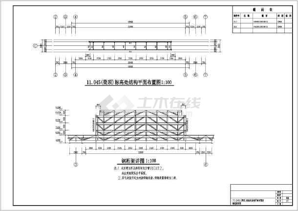大跨度经典仿古钢结构门楼cad设计图纸