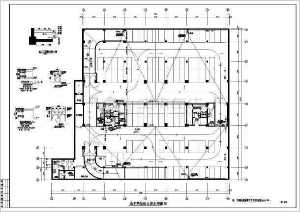某地区办公楼给排水设计CAD施工图-图1