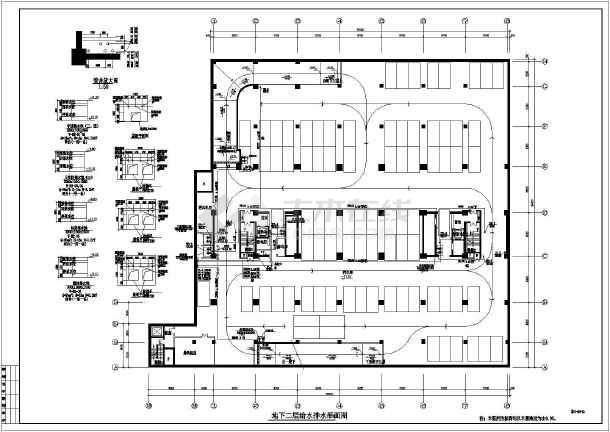 某地区办公楼给排水设计CAD施工图-图2