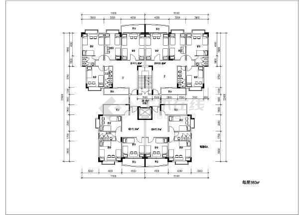 某大型户型住宅楼建筑多层cad设计图泰豪装饰工程设计房地产经纪怎么样