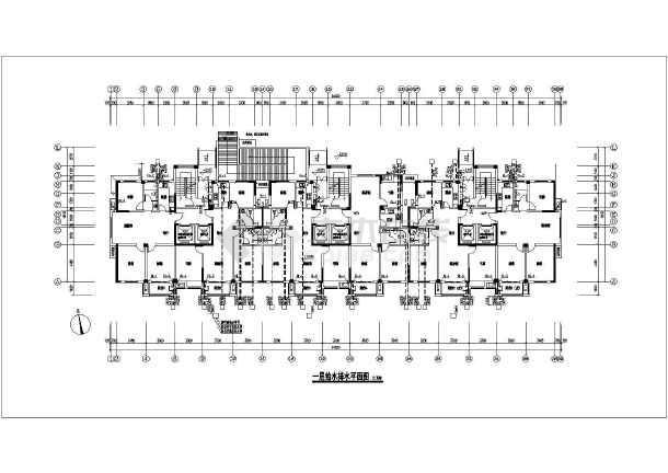 16层单体住宅楼给排水及消防设计-图1