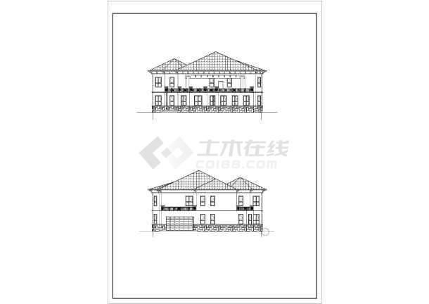 立体建筑CAD图纸效果图含revit图纸_cad模型豆猫别墅拼图纸图片