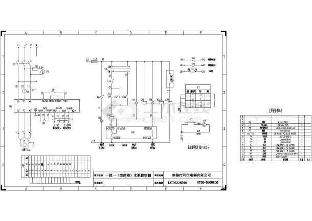 一控一(变频器)图纸控制箱CAD水泵_cad图纸下微幕墙盘图纸图片