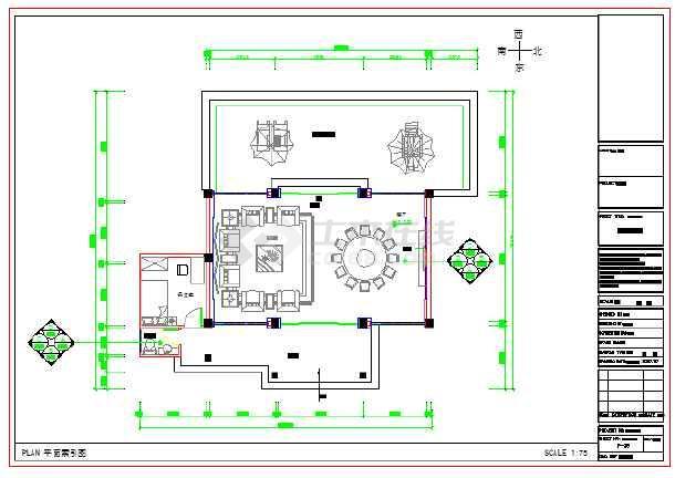 接待中心a栋装修设计施工图(共11张)图片
