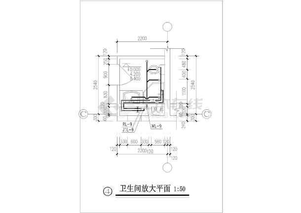 某办公楼给排水及消防施工图设计(详细)-图1