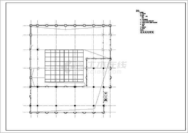 某商业广场三层欧式商业用房建筑施工图(2号楼)图片