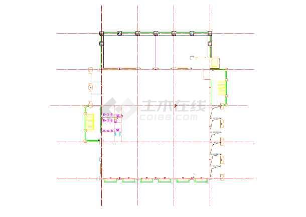 某商业广场四层欧式商业建筑施工图(6号楼)图片