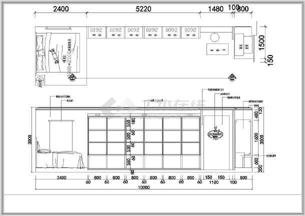 家纺城装修设计施工图(共12张)图片