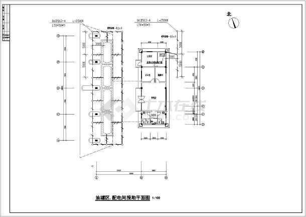 某大型油站全套电气设计施工cad图
