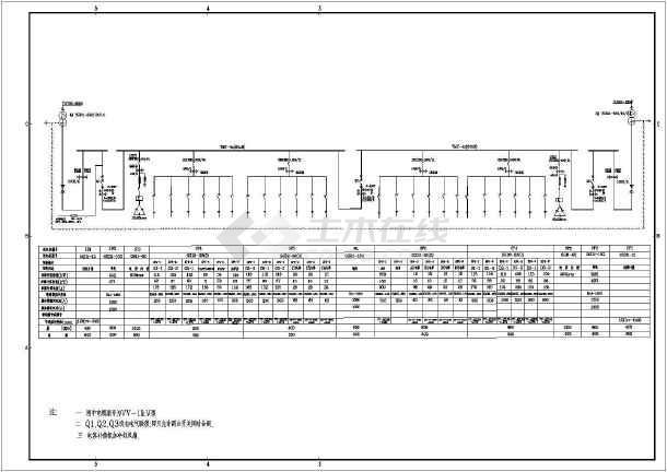 4kv低压整套配电系统cad设计图纸图片