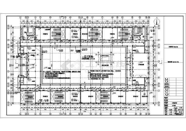 4层回字形小学教学楼建筑设计施工图