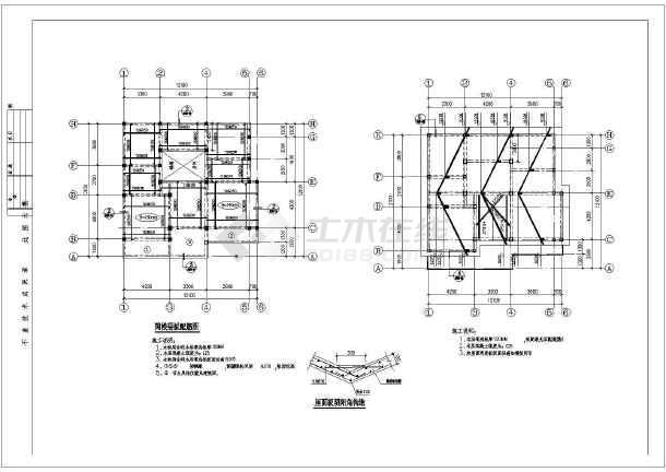 某三层别墅图纸建筑结构cad详细设计施工图纸solidworks雕刻机私宅图片