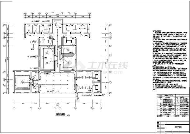 某地区湖心岛建筑物电力系统CADv机械机械图纸图纸nearside图片