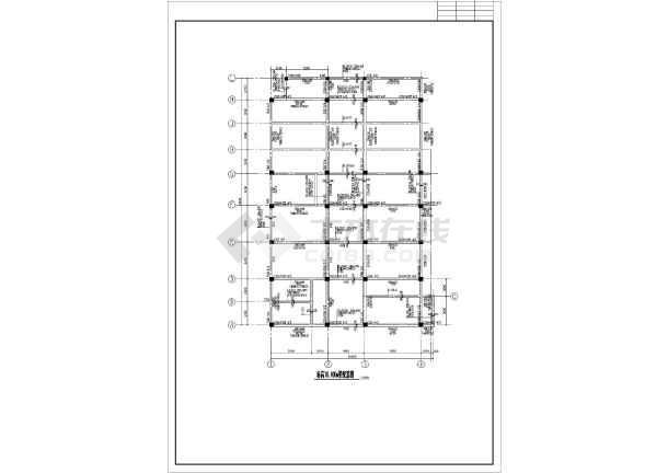 小学全套教学楼cad结构设计施工图