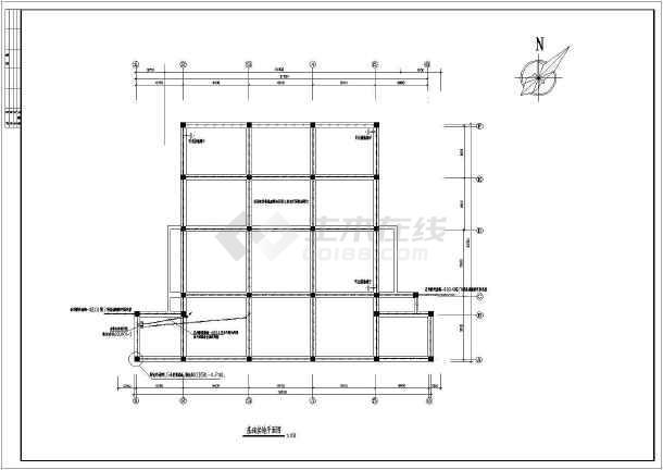 某地区机械式地下停车库图纸CADv图纸图纸的电气挑筋图片