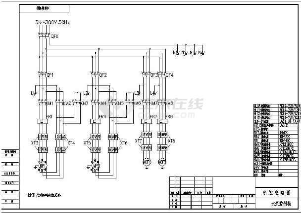 泥人星三角启动电气图纸图_cad图纸下载捏电机原理图片
