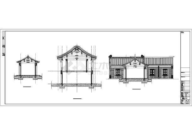 几间古建民宿建筑设计cad图纸
