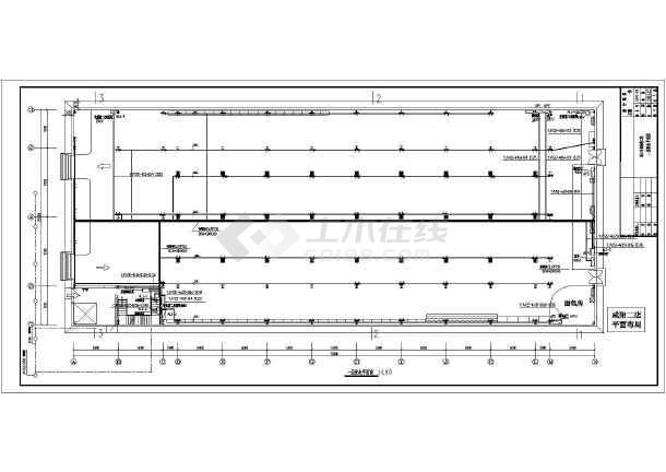 某二层超市建筑电气设计cad平面图图片