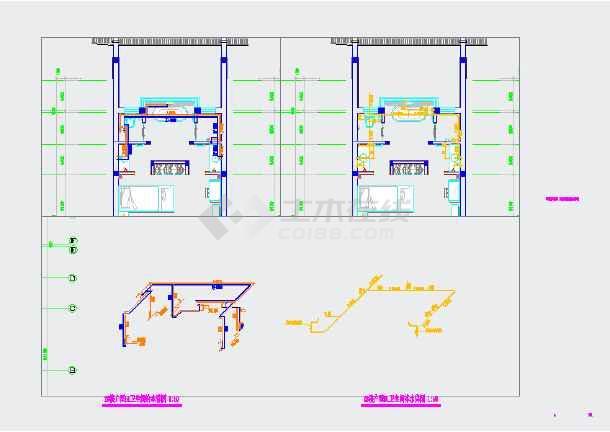 某民宿酒店给排水cad设计施工图-图1