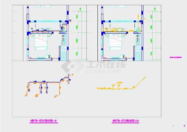 某民宿酒店给排水cad设计施工图-图2