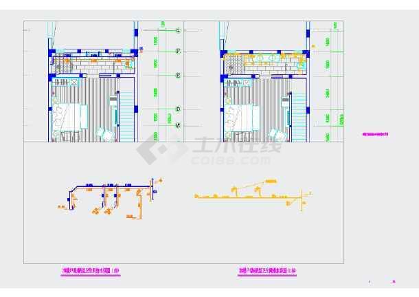 某民宿酒店给排水cad设计施工图-图3