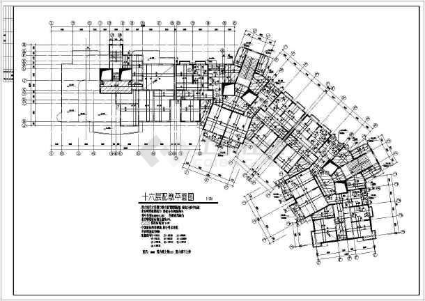 某19工程住宅楼cad结构制作图纸船体图纸舾装层高施工图片
