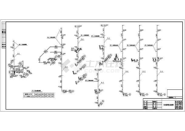 六层中式办公大楼全套给排水设计图纸-图1
