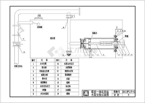 箱式水泵上海图集cad版本-图3