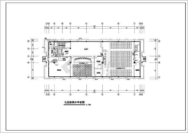 5119.1平方米办公楼建筑给排水施工图-图1