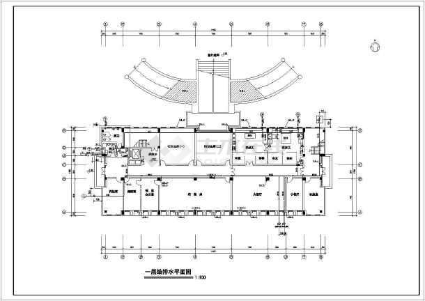 5119.1平方米办公楼建筑给排水施工图-图2