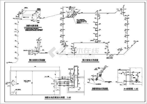 5119.1平方米办公楼建筑给排水施工图-图3