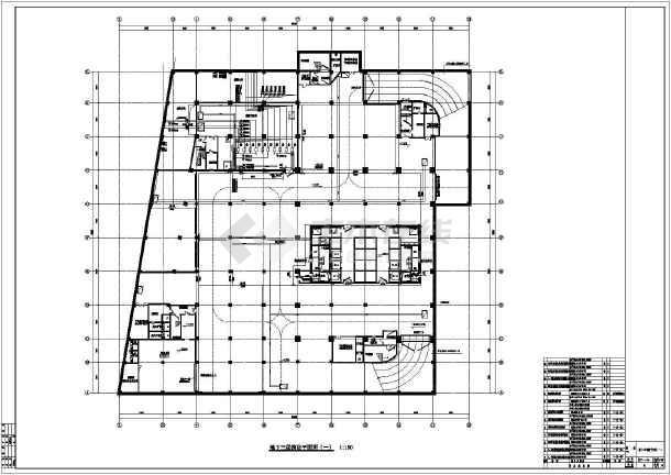 某高层建筑给排水cad设计施工图纸-图1