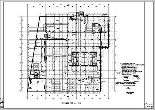 某高层建筑给排水cad设计施工图纸-图2