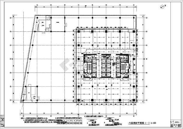 某高层建筑给排水cad设计施工图纸-图3