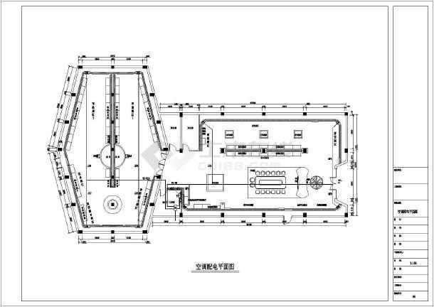 某地区展厅二次设计系统CAD配电标题a4图纸标准图框图纸栏图片