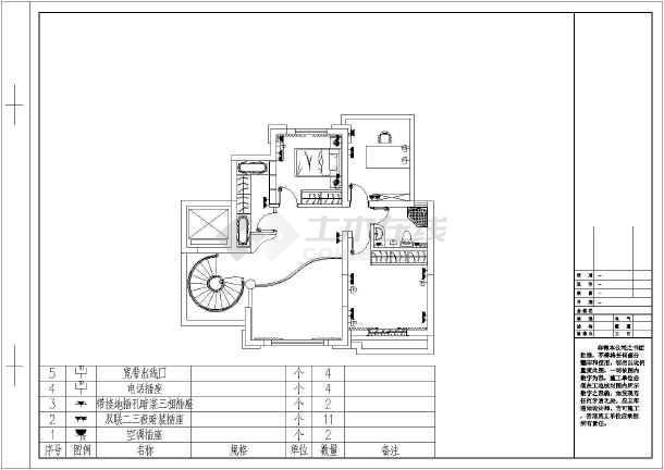 欧式复式别墅装修设计施工图(内含效果图)